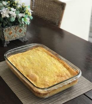 Receita de bolo de batata com recheio de frango
